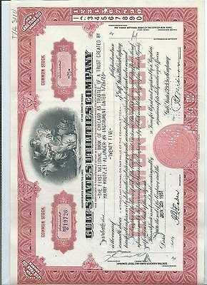Share & Bond Certificate - Gulf States Utilities Company- Red Certs.
