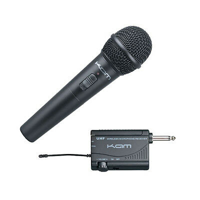 Kam KWM1900 HH 16 Channel UHF Wireless Radio Handheld Microphone Mic + Receiver