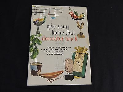 Vtg Give Your Home That Decorator Touch Booklet MCM Furniture Mid Century Color