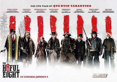 THE HATEFUL EIGHT Movie Cast PHOTO Print POSTER The H8ful 8 Quentin Tarantino 05