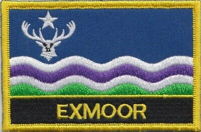 Exmoor National Park Devon / Somerset County Flag Embroidered Patch Badge