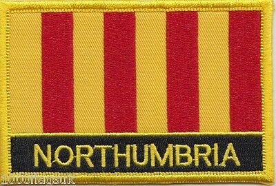 Kingdom of Northumbria Region Flag Embroidered Patch Badge - Sew or Iron on
