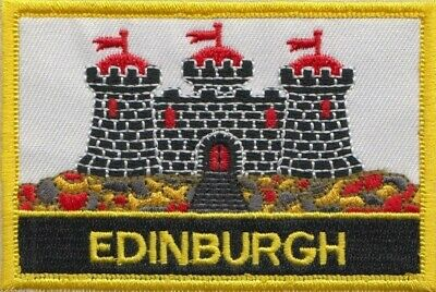 City Of Edinburgh Scotland Flag Embroidered Patch Badge - Sew or Iron on