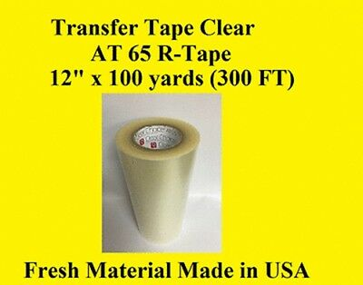 "1 Roll 12"" x 300 ft  Application Transfer Tape Vinyl Signs R TAPE  Clear at 65"