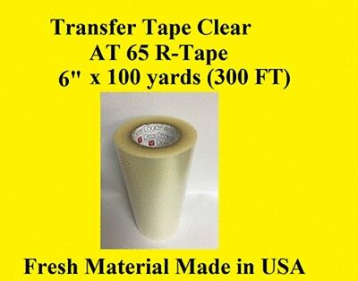 "1 Roll 6"" x 300 ft  Application Transfer Tape Vinyl Signs R TAPE  Clear at 65"