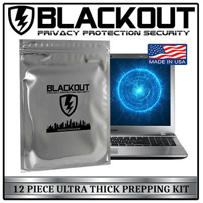 Faraday Cage Emp Esd Bags 12 Pc Variety Size Prepper Kit By Blackout®