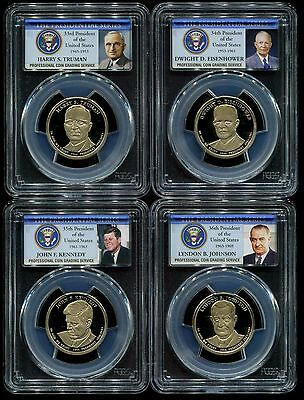 2015 S Presidential Dollar 4 Coin Proof Set PCGS PR69 DCAM $1
