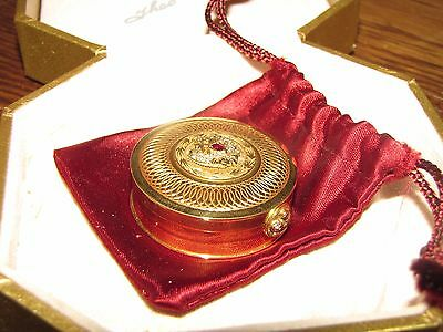"""""""Gold Anniversary Box"""" Theo Faberge 8/30 Signed COA Solid 18K Gold/Diamonds/Ruby"""