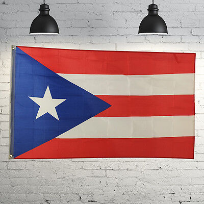Flag 3'x5' Ft Puerto Rico Rican State Polyester Brass Grommets Indoor New