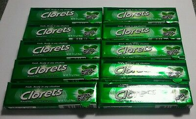 10 x HALAL Chewing Gum CLORETS Cool Mint Free Shipping