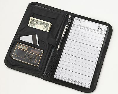Server Book/Wallet Waitress black Wallets for Server Apron with FREE order pad!