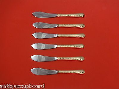 """Larkspur by Wallace Sterling Silver Trout Knife Set 6pc. HHWS  Custom 7 1/2"""""""