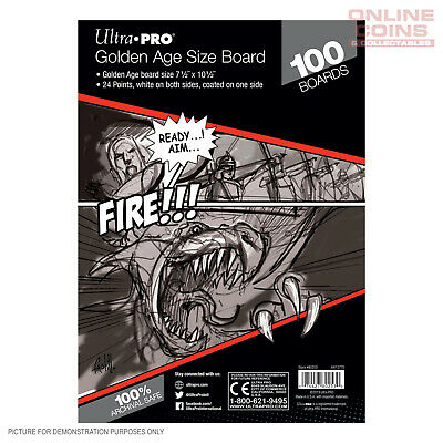 Ultra Pro Comic Series - GOLDEN Size Comic Backing Boards x 100