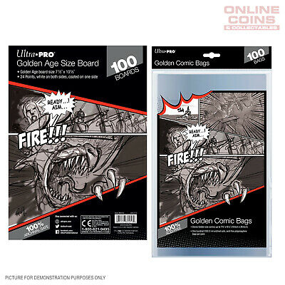 BUNDLE! Ultra Pro Comic Series - GOLDEN Size Comic Bags & Backing Boards x 100