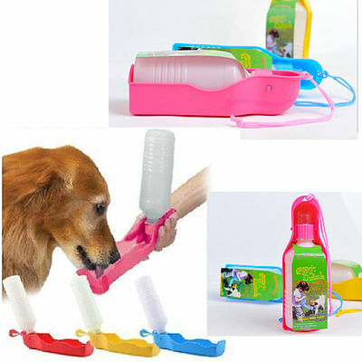 Portable Foldable Plastic Feeding Bowl Dog Cat Travel Pet Water Bottle HOT NEW