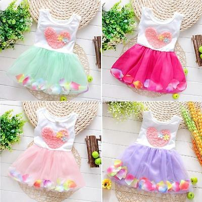 0-4Y Girls Party Flower Dress Kids Baby Princess Dress Party Tulle Tutu Dresses