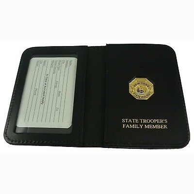 Family Wallet mini badge NYSP New York State Police Trooper for PBA or ID Card