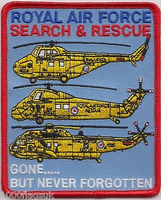 Search and Rescue Royal Air Force Gone But Not Embroidered Crest Badge Patch