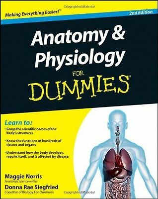 **NEW** - Anatomy & Physiology For Dummies (Paperback) ISBN0470923261
