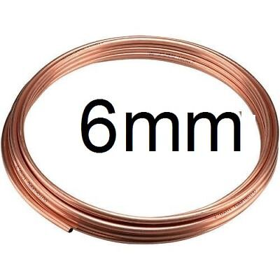 NEW 25cm of 6mm Outside dia microbore gas LPG water copper plumbing pipe/tube