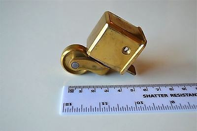 Good quality brass furniture castor square nose foot antique caster wheel c4
