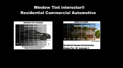 """2 Ply Window Tint Black Residential Commercial Automotive 36"""" Inches Wide"""