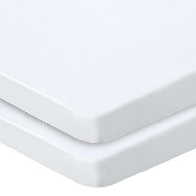 """4 PACK NEW HOSPITAL CONTOUR TWIN KNITTED FITTED SHEETS 36""""x84""""x16"""" WHITE"""