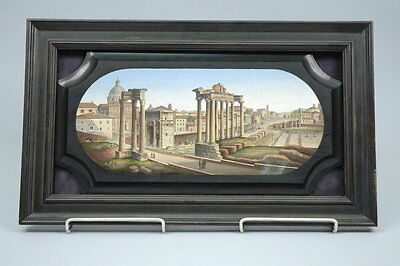 Antique Micromosaic - Micro Mosaic - Roman Forum - Ancient Ruins - Grand Tour
