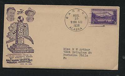 Will Rogers-Wiley Post memorial cover with enclosure   1938   MS1106