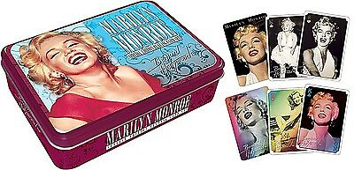 Marilyn Monroe tin containing two packs of 52 playing cards   (nm)