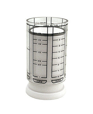 KitchenArt White Adjust-A-Cup 1 Cup Adjustable Measuring Cup Liquid & Dry Slides