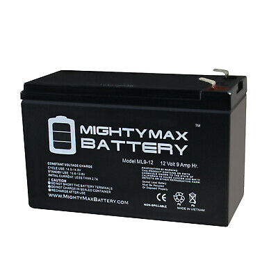 12V 1Amp Charger UPG 12V 9AH Replacement Battery for MarCum 5.6 Fish Locator