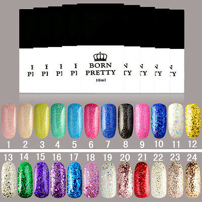 10ml Born Pretty Nail Art Glitter UV Gel Polish Soak Off Long-lasting Varnish