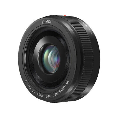 NEW Panasonic Lumix G 20mm F1.7 II ASPH Lens with 1 Year Warranty BLACK