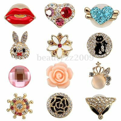 3D Crystal Cute Home Button Stickers For Apple iPhone 4/5/6 6s iPad iPod Touch