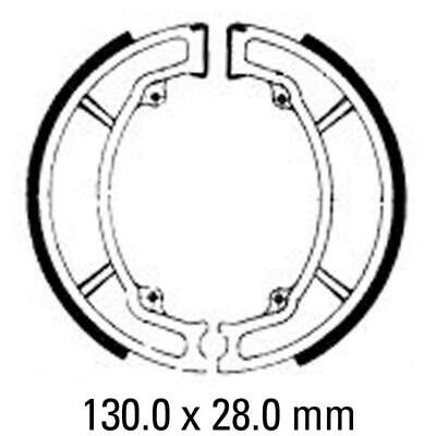 PAIR FERODO FRONT DRUM BRAKE SHOES YAMAHA DT175 1977 to 1998 AG175 1975 to 1990