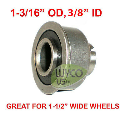 """Precision, Sealed Bearing W/ Lip, 1-3/16"""" Od, 3/8"""" Id, For 1-1/2"""" Wide Wheels"""