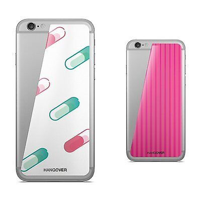 2 skins for IPHONE 6  Hangover TURBO PINK + KOSMO CAPSULE/white