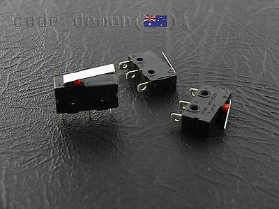 New Micro End Stop Limit Switch 5A 250V 10T85 (x3) Arduino / AVR / Raspberry Pi
