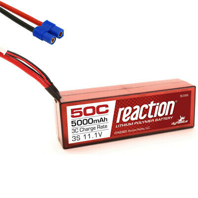 Dynamite Reaction 11.1V 5000mAh 3S 50C Hardcase LiPo Battery EC3 Connector