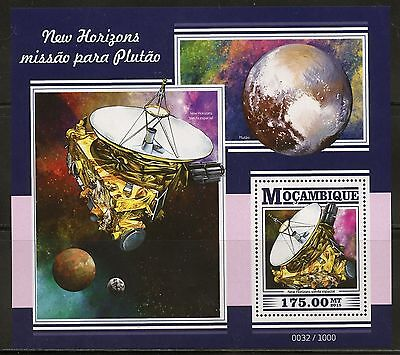 Mozambique 2015 New Horizons Pluto Mission  Souvenir  Sheet Mint Nh