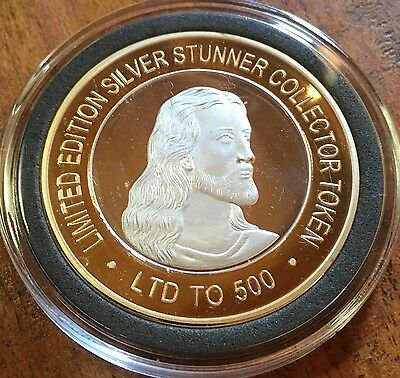 # Jesus Christ SILVER STUNNER COIN LIMITED Edition Silver & Gold Coin New