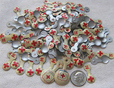 1930's RED CROSS Fold Over Pins Lot (200) + (2) American Junior Red Cross