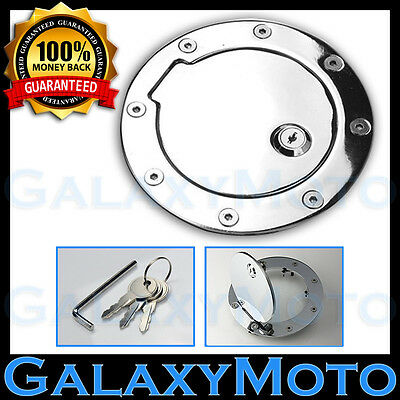09-14 Ford F150 Super Crew+Cab Chrome Replacement Billet Gas Door Cover w/ Lock