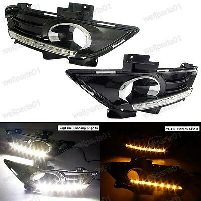 2X Daytime Running Light DRL LED Fog Lamp Day Lights For Ford Mondeo Fusion 2013