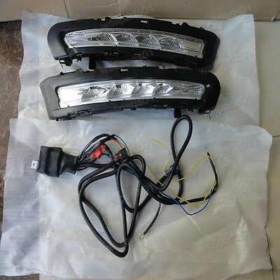 2X LED DRL Driving Daytime Running Day Fog Lamp Lights For Ford Mondeo 2011 2012