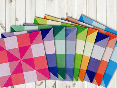 24Pcs Grid Double Side Double Color Origami Or007