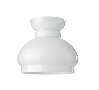 White Glass 'Oil Lamp' Cowl (replacement lighting shade retro chimney)
