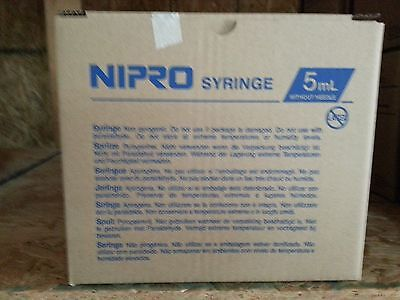 Nipro Syringes 5ml Box of 50  5cc Luer Lock without needle Sterile JD+05L