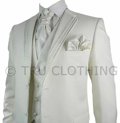 Costume 5 Pièces Hommes - Marriages & Grandes Occasions - Revers Strass